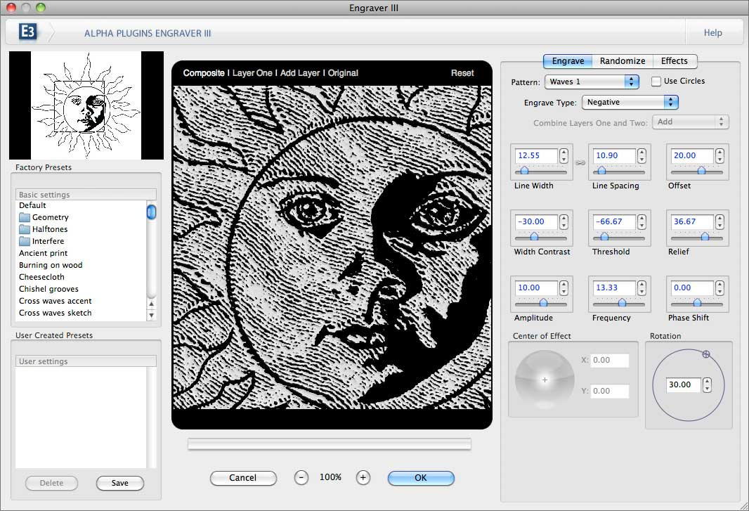 Click to view AlphaPlugins Engraver III for Windows screenshots