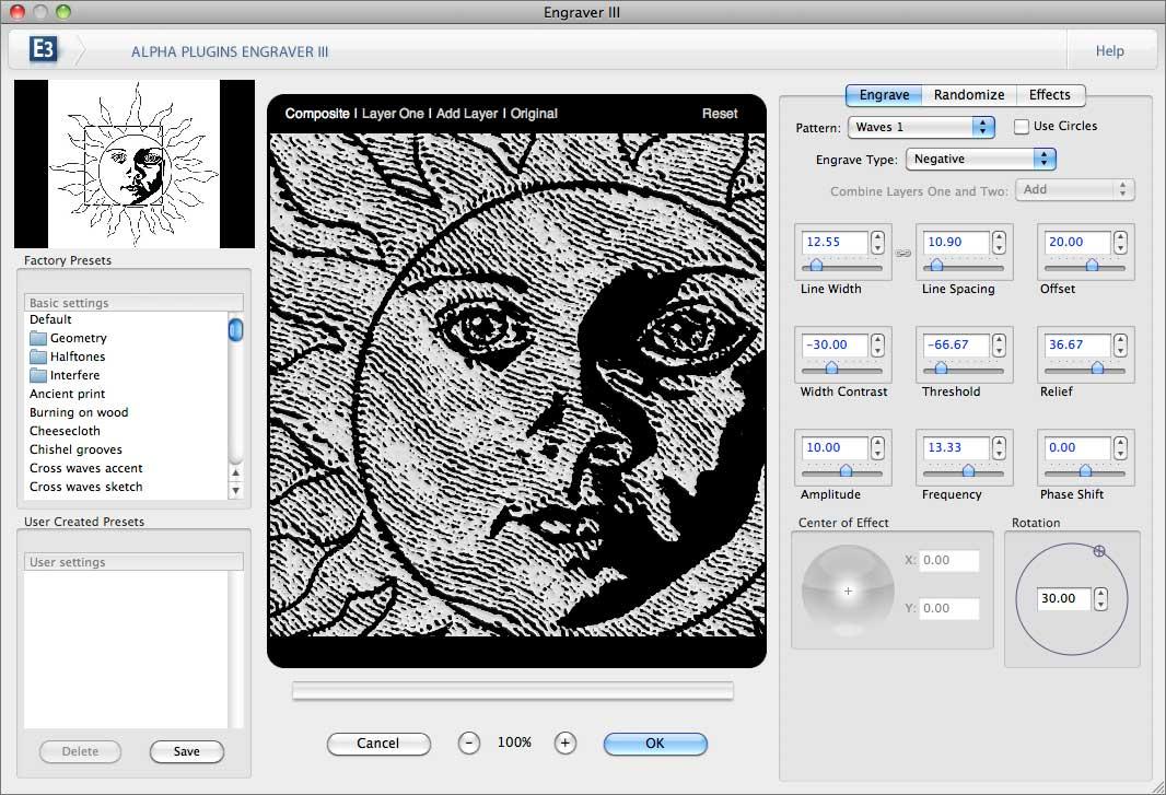 AlphaPlugins Engraver plug-in for Adobe Photoshop