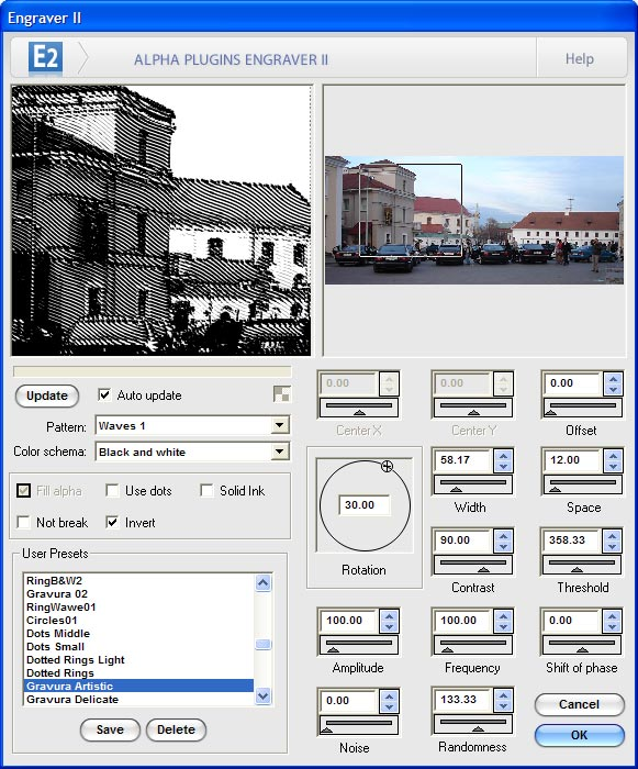 Click to view Engraver II for Photoshop 2.22 screenshot
