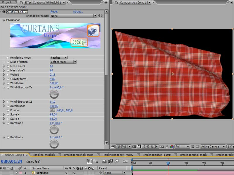 Curtains for AfterEffects Windows