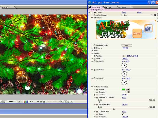 AlphaPlugins FirTree AfterEffects Win Screen shot