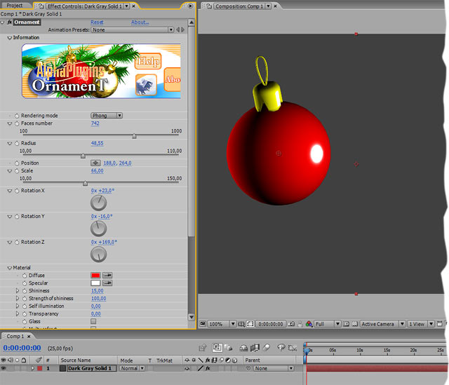 Ornament for AfterEffects Window Screen shot